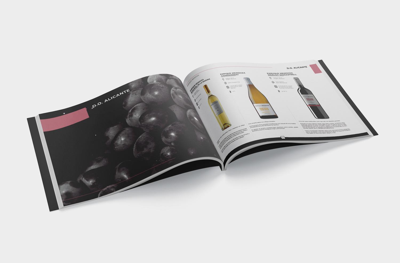 diseño catálogo, catálogo de vino, diseño editorial
